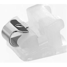 Керамические брекеты QuicKlear® с металлическим лигирующим механизмом (КВИК КЛЕАс металлической клипсой)